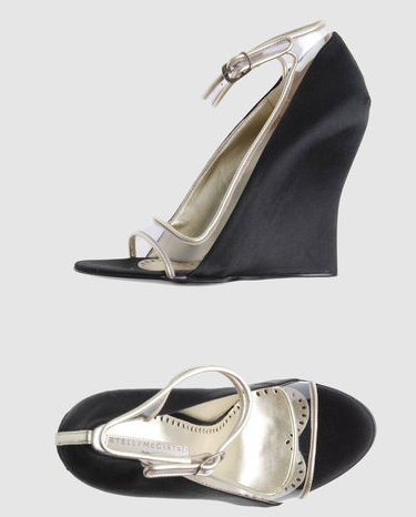 Stella McCartney shoes black satin platforms