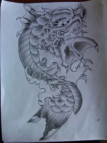 koi dragon tattoo design. April 26, 2010 by admin