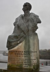 Photograph by Janet E Davis of Detail of the Coulson Memorial, Horatio Street, Newcastle upon Tyne.