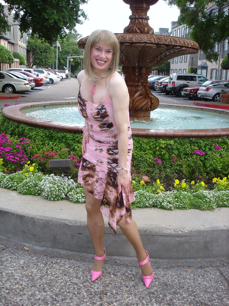 Playing Fashion Model in Pink