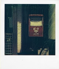 Mailingbox manipulated (Issey*) Tags: japan mailbox polaroid sx70 manipulation nara atz