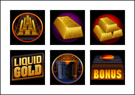 free Liquid Gold slot game symbols