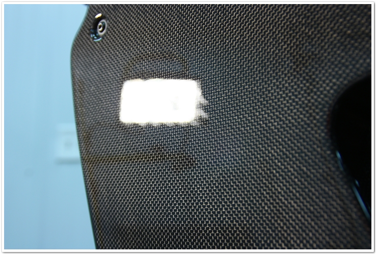 Carbon fiber door panels after polishing