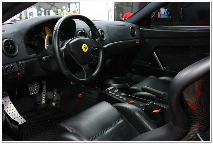 Ferrari Challenge Stradale interior after detail