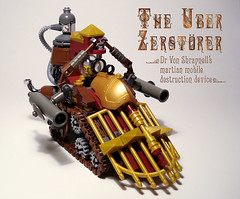 Steam panzer (captainsmog) Tags: mars rivets tank lego victorian evil gear steam weapon cannon copper vehicle minifig villain panzer steampunk mocs moc