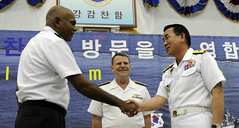 100421-N-8959T-101 (U.S. Pacific Fleet) Tags: people coc koreannavy officers changeofcommand uspacificfleet gulfofaden pacflt ctf151 kangkamchan