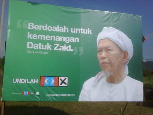 TGNA poster in KKB supporting Datuk Zaid