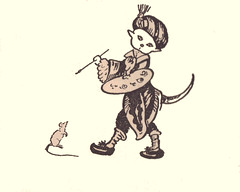 artist cat decoration by illustrator Elizabeth MacKinstry (katinthecupboard) Tags: cat chat fairytales vintagechildrensbooks catartist elizabethmackinstry vintagechildrensillustrations vintagestorybooks vintagefairytales mackinstryelizabeth