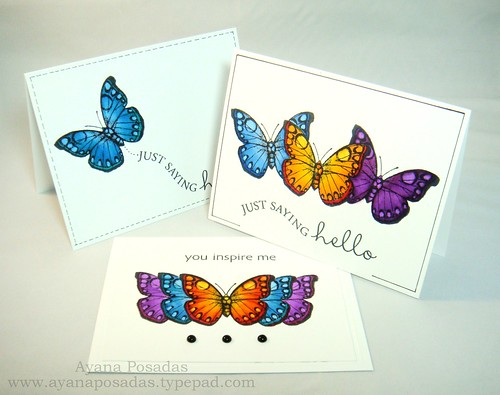 Copic Butterflies (10)
