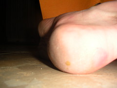 My heel (close up) (Night Time Barefooter) Tags: man male guy feet walking toes walk dirty barefoot heels rough tough soles barefooting calloused barefooter barfus