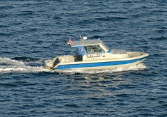 Muscat Harbour Police (Gerry Hill) Tags: cruise harbor persian gulf harbour police coastal oman muscat defence patrol seas brilliance gunboat