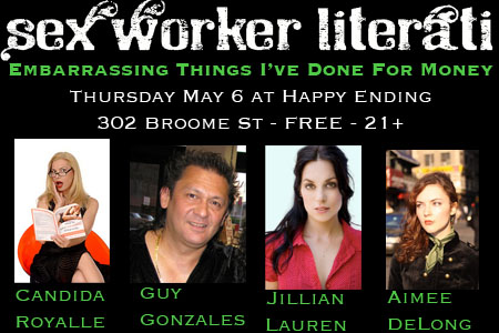 Embarrasing Things I've Done for Money: Sex Worker Literati May 6th