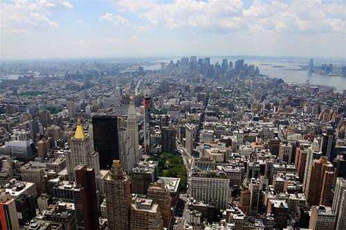 El corazón de Manhattan desde la cima del edificio Empire State