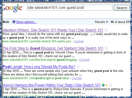 SITE: guest posting search