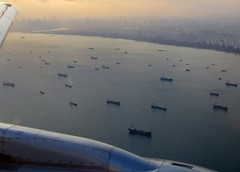 Boats in Singapore Strait