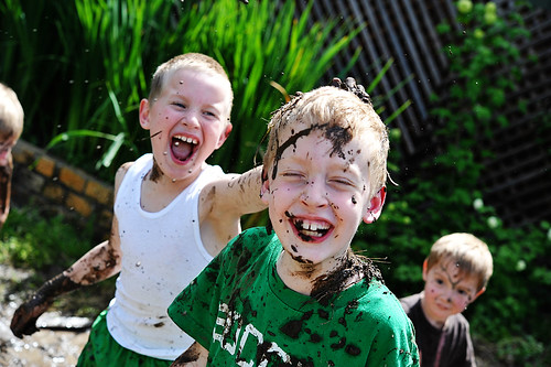 Water + Dirt = MUDFIGHT!