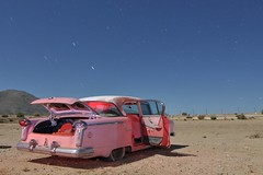 (picturenarrative) Tags: auto california pink usa lightpainting abandoned monument car night stars death ruins decay urbanexploration americana moonlight junkyard nash recycle derelict boneyard startrails mojavedesert urbex highway395 nocturnes uer pearsonville automobilies