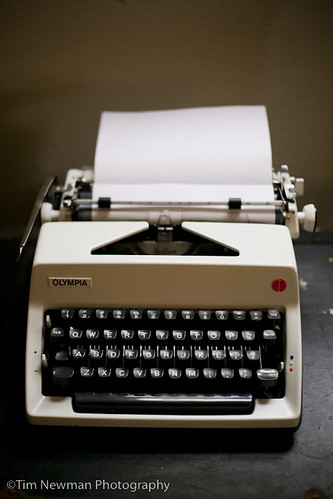 1970s typewriter (ready to type on)