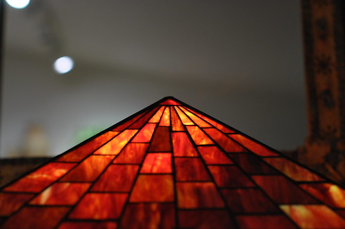 Triangle Stained Glass Lamp