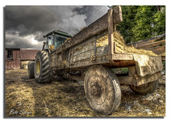 Down on the farm (pete stone) Tags: tractor kent farm trailer hay hdr romneymarsh downonthefarm canoneos5d pigshit ruckinge