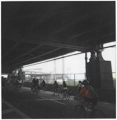 Verrazano Bridge - 5 Boro Bike Tour (sizeofguam) Tags: nyc bridge film bike brooklyn polaroid sx70 island tour staten 2010 verrazano 5boro polaroidweek roidweek roidweek2010 5borobiketour2010