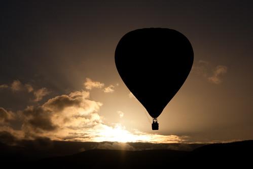 Floating over the sunrise