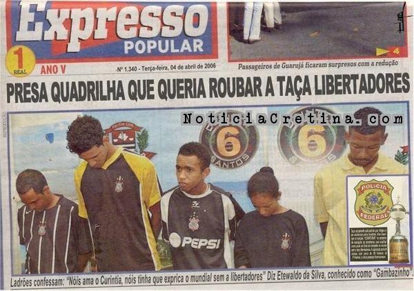 Bando de Loucos quase pega a taça da Libertadores - NOT