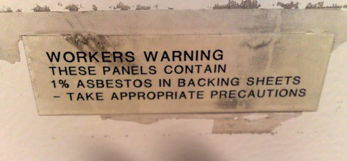 Asbestos warning, Flagstaff station