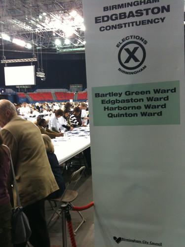General election Birmingham 2010
