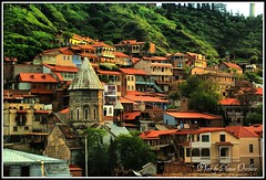 Renewed Old Tbilisi (temurio) Tags: old houses church roofs balconies tbilisi