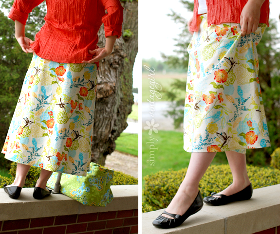 The Spring Skirt: Back & Side