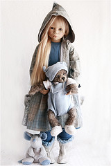 Karile Himstedt and Iwan Mickbears (MiriamBJDolls) Tags: baby 2004 doll vinyl limitededition iwan karile annettehimstedt himstedtkinder mickbears