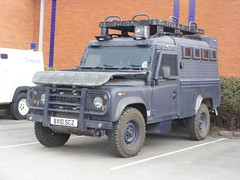 (600) GMP - Land Rover 110 - Armoured Car - BV10 SCZ (Call the Cops 999) Tags: manchester police rover land vehicle greater gmp response unit defender armed armoured openshaw