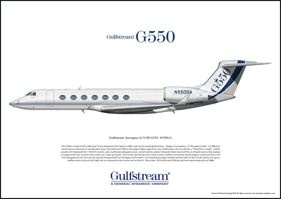 Gulfstream Aerospace G-V-SP G550 N550GA