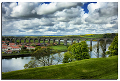 "Royal Border Bridge (gainsheritage ""Commenting when I Can"") Tags: bridge nature landscape nikon d70s may railway viaduct northumbria queenvictoria 2010 1850 berwickupontweed 1847 rivertweed merlyn robertstephenson thegalaxy royalborderbridge platinumpeaceaward mygearandmepremium mygearandmebronze mygearandmesilver mygearandmegold mygearandmeplatinum ringexcellence"