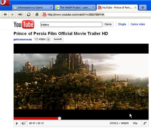 Opera 10.54 -21868 -WebM on YouTube