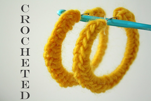 Crocheted Hoop Earrings