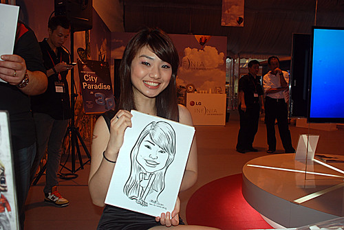 caricature live sketching for LG Infinia Roadshow - day 2 -3