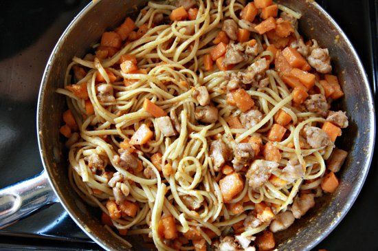 Sweet Potato Linguine with Brown Butter Balsamic Sauce