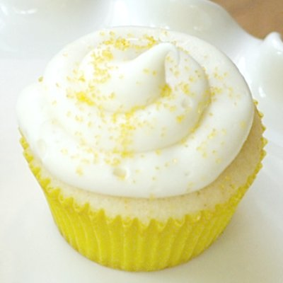 Marzipan: Lemon Cupcakes with Lemon Cream Cheese Icing