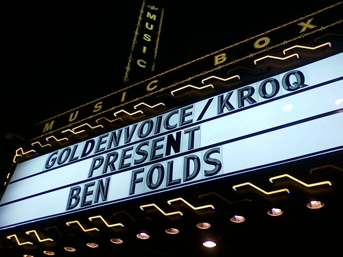 Ben Folds Marquee