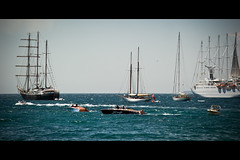 Can't Choose... (Fabrice Drevon) Tags: sea cloud film festival french boat nikon colorful riviera sailing cannes seagull sigma cinematic f28 70200mm d700 fabricedrevon