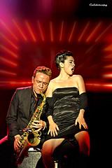 Mambo Jambo (Dani Nello & Myriam Swanson) (calidoscopy) Tags: barcelona musician girl night soul singer sax burlesque taboo salaapolo 50v5f paralel myriamswanson daninello