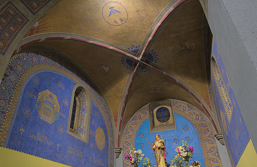 Saint Meinrad Archabbey, in Saint Meinrad, Indiana, USA - Monte Cassino Shrine - sanctuary ceiling