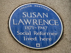 Photo of Susan Lawrence blue plaque