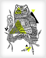 Be-Mag DiscOwl (CUKE (SAM)) Tags: shirt illustration disco design yeah owl mpc akai bemag mikefriedrich discowl