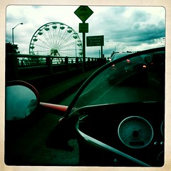 Pin Wheel (NymphoBrainiac) Tags: wheel circus ferris motorcycle ferriswheel pdx ducati