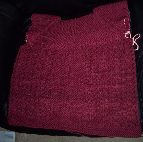 April/May Lady Sweater Progress 5.27.2010 pic #1