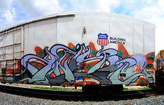 Knistt (208 Bench) Tags: art america train graffiti zee unfinished boxcar graff build freight chilled armn rxr knistt gtl