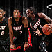 LeBron James, Dwyane Wade, Chris Bosh Miami Heat